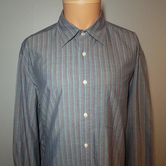 926dc278 Faconnable Shirts   Mens Long Sleeve Shirt Sz Large Striped   Poshmark